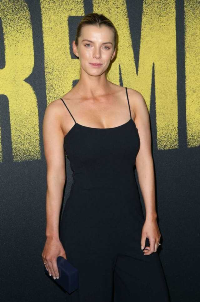 Betty Gilpin Hot in Black