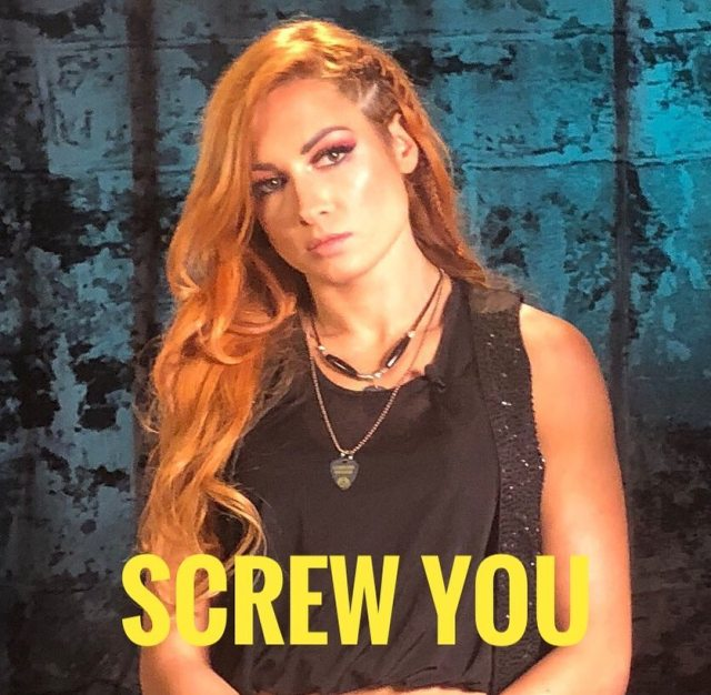 becky lynch angry face