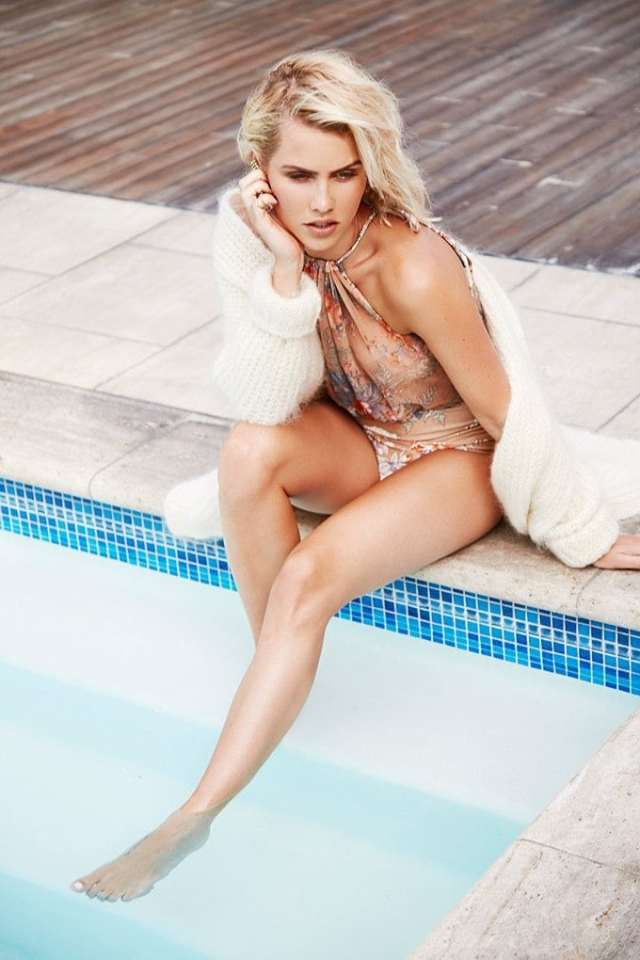 claire holt in swimming pool