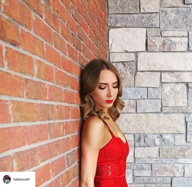 hailie mathers red dress