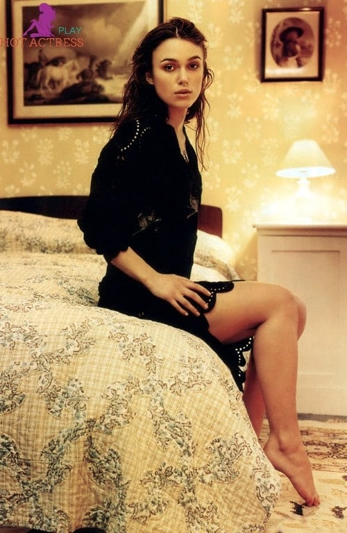 Keira Knightley on Bed