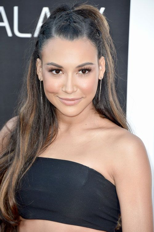 Naya Rivera Hot in Black Dress