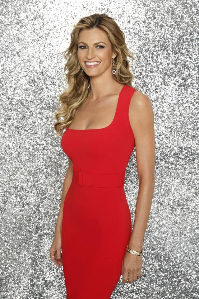 erin andrews red dress