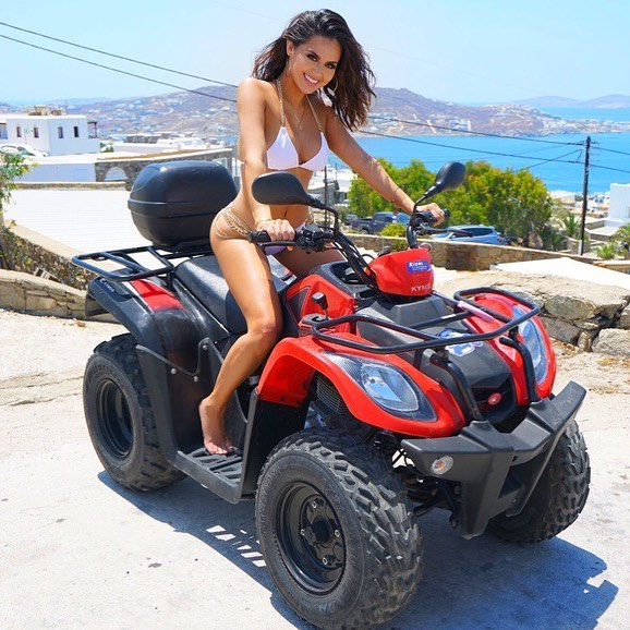 Christen Dominique on Quad Driving