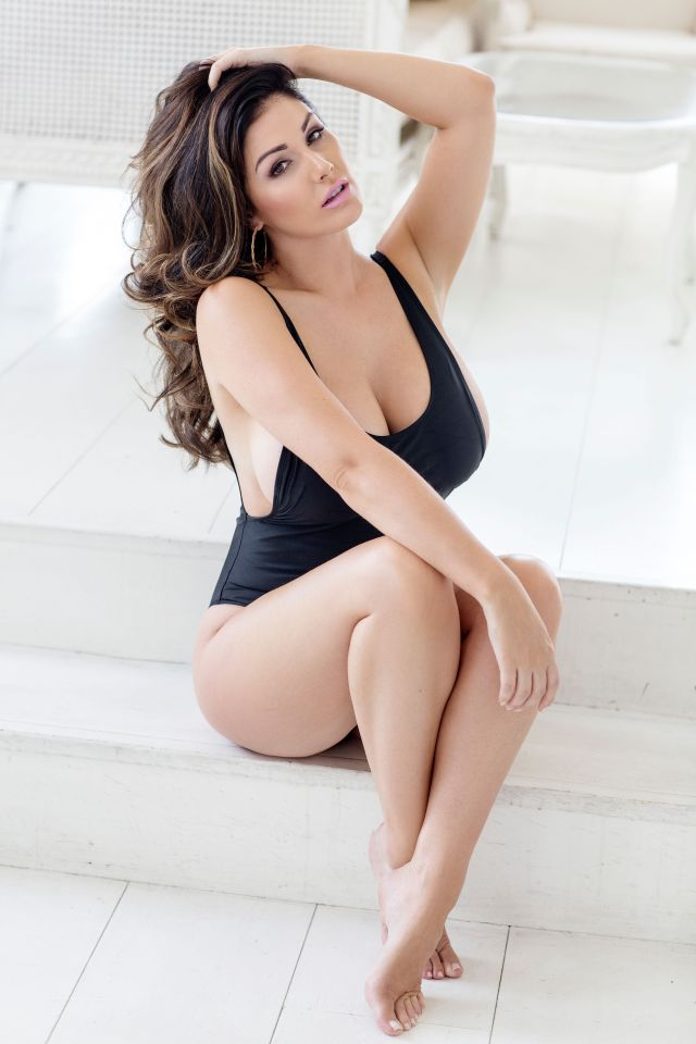 Lucy Pinder swimsuit black