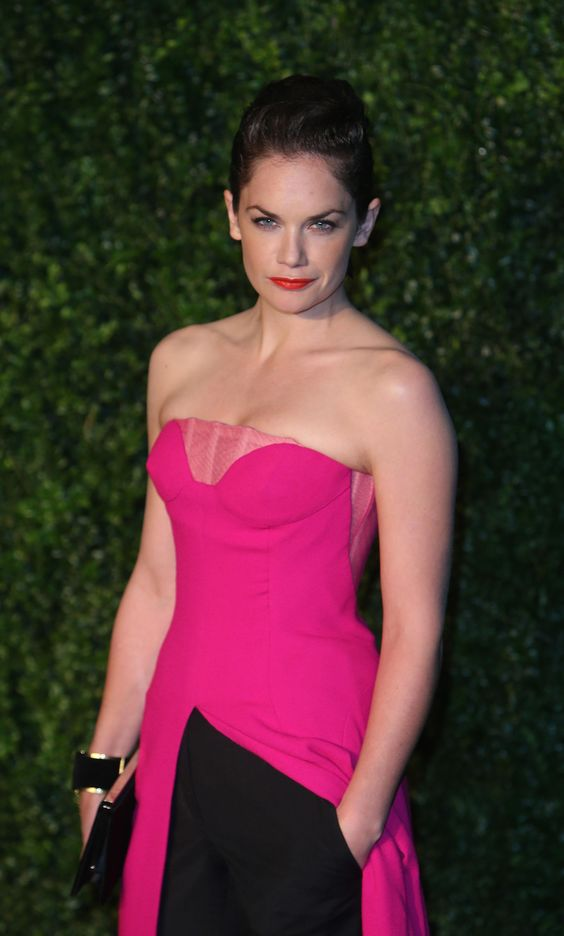 Ruth Wilson hot in red