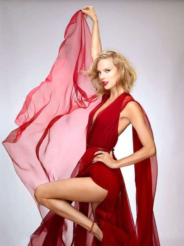 Taylor Swift Hot in Red