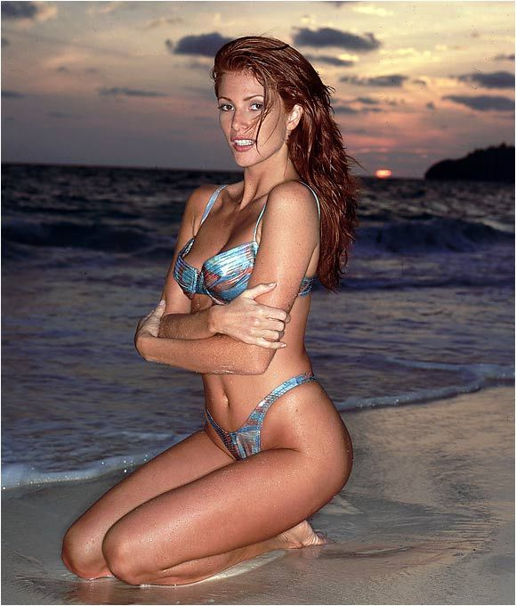 Angie Everhart hot in beach