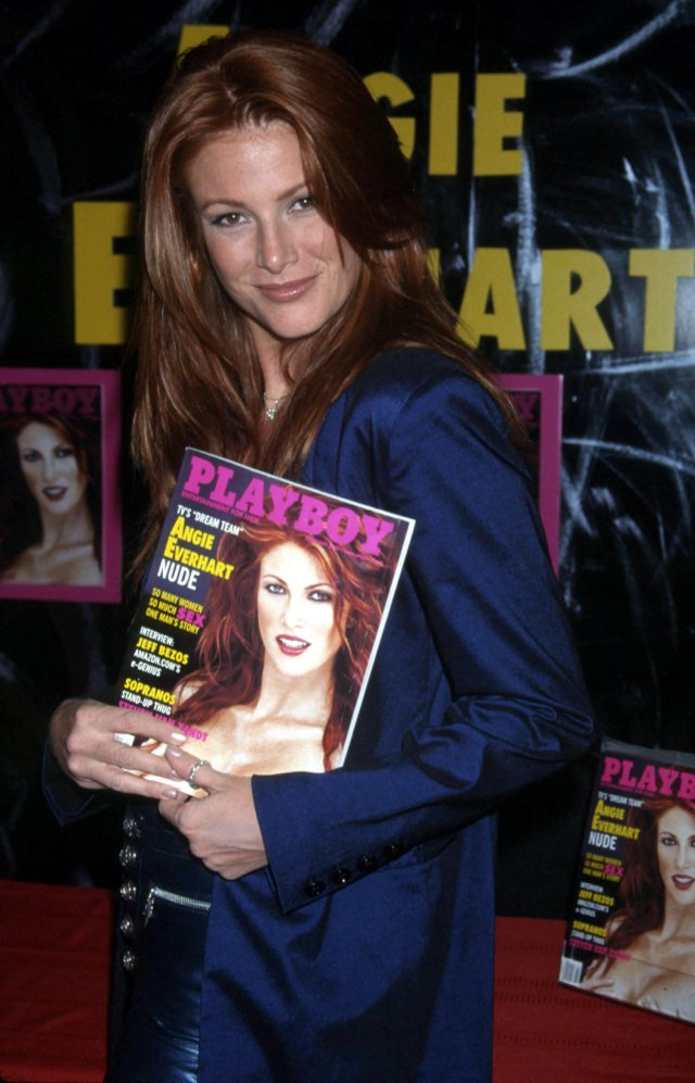 Angie Everhart on Playboy Cover