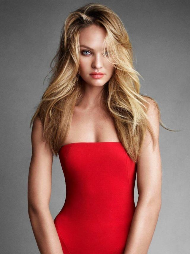Candice Swanepoel sexy red dress