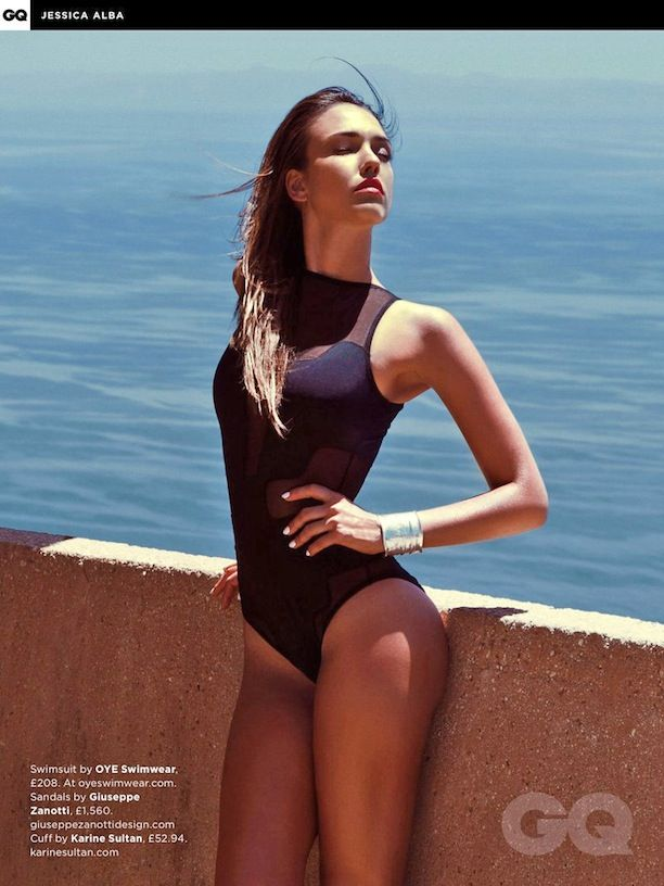 Jessica Alba on Swimming Costume
