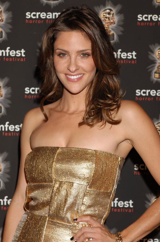 Jill Wagner Hot in Golden dress
