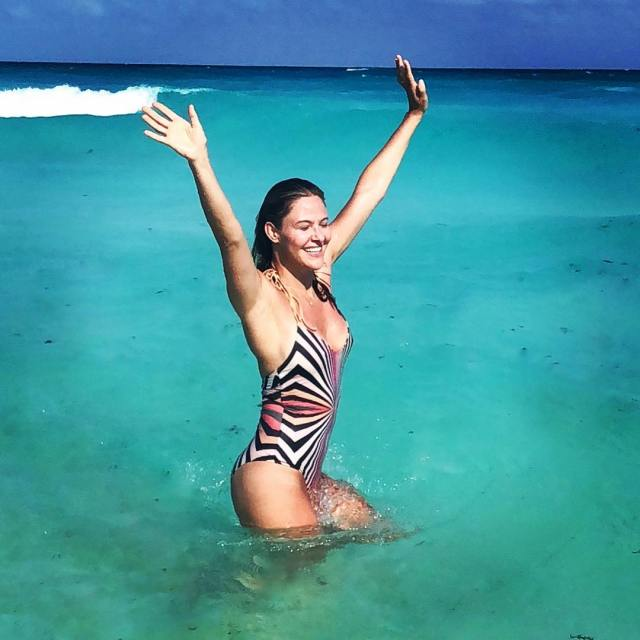 Jill Wagner on Beach