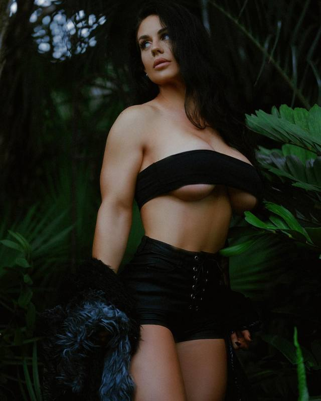 Kaitlyn Sexy Boobs Pictures in Black