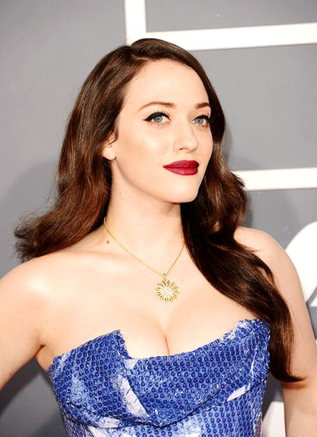 Kat Dennings hot in blue