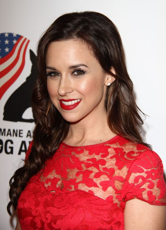 Lacey Chabert Hot in Red Dress