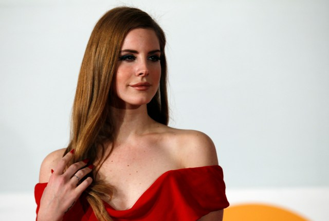 Lana Del Rey arrives for the BRIT Music Awards at the O2 Arena in London