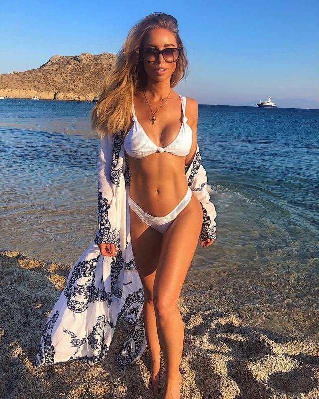 Lauren Pope Hot in White Lingerie