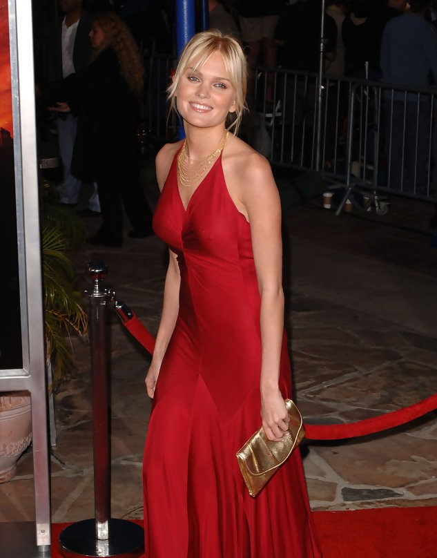 Sunny Mabrey Hot in Red Dress