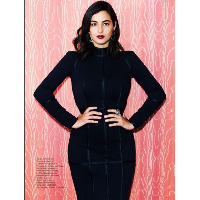 Alanna Masterson Hot in Black Dress