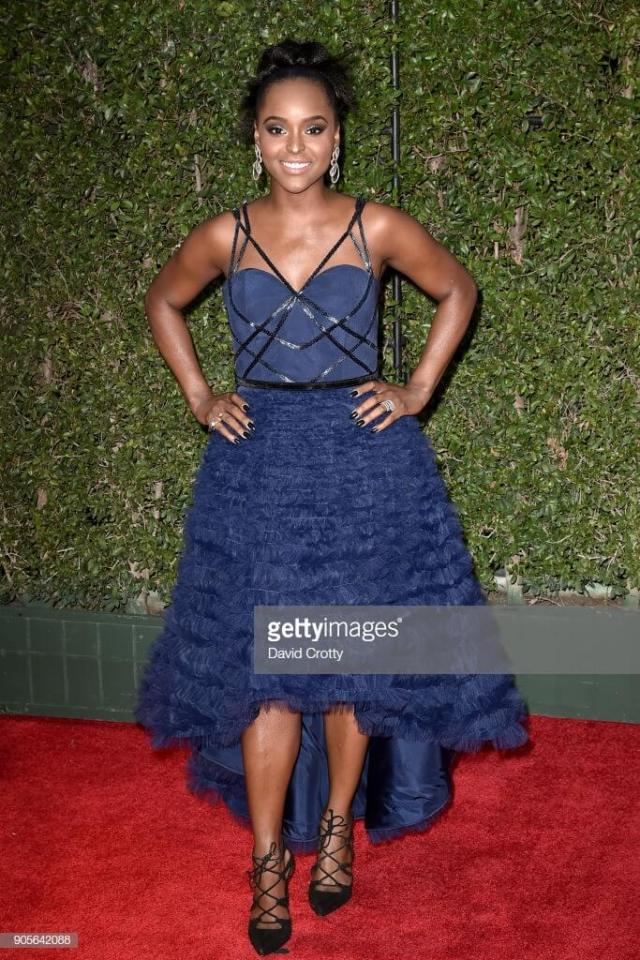Antoinette Robertson blue awesome dress
