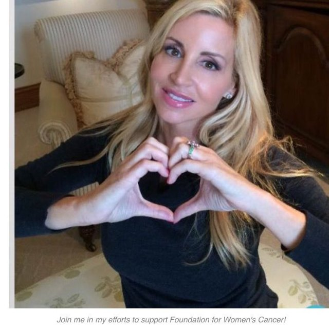 Camille Grammer Showing Heart
