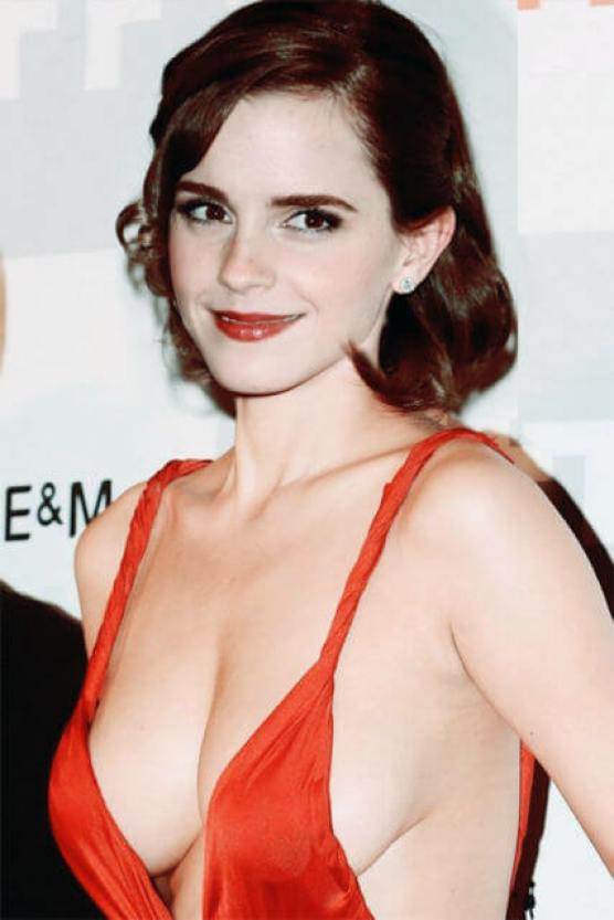 Emma Watson sexy cleavage picture
