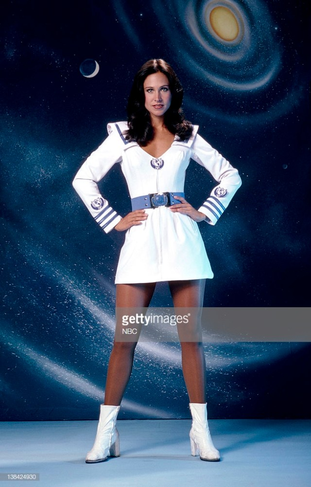 Erin Gray awesome black dress 3