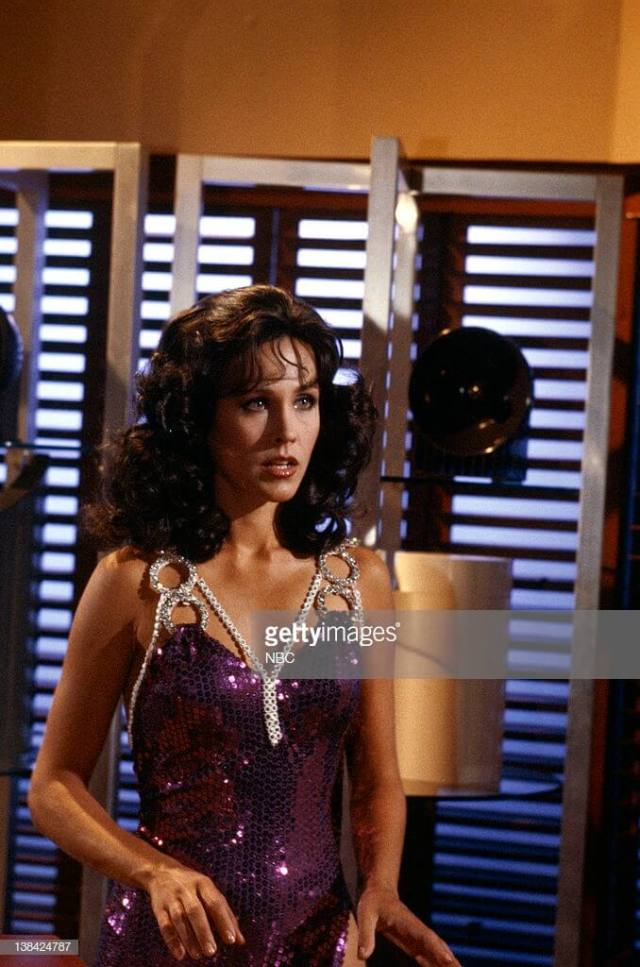 Erin Gray beautiful cleavages