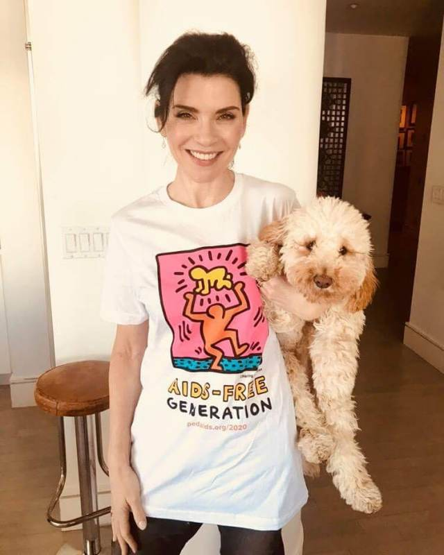 Julianna Margulies with Puppy