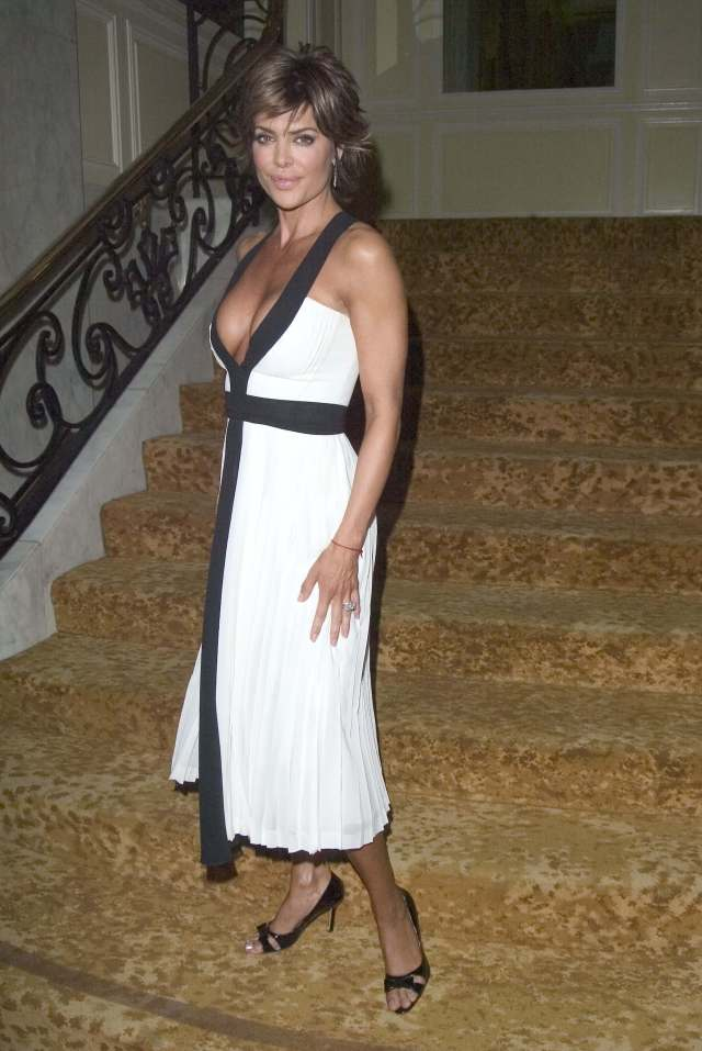 Lisa Rinna white awesome dress