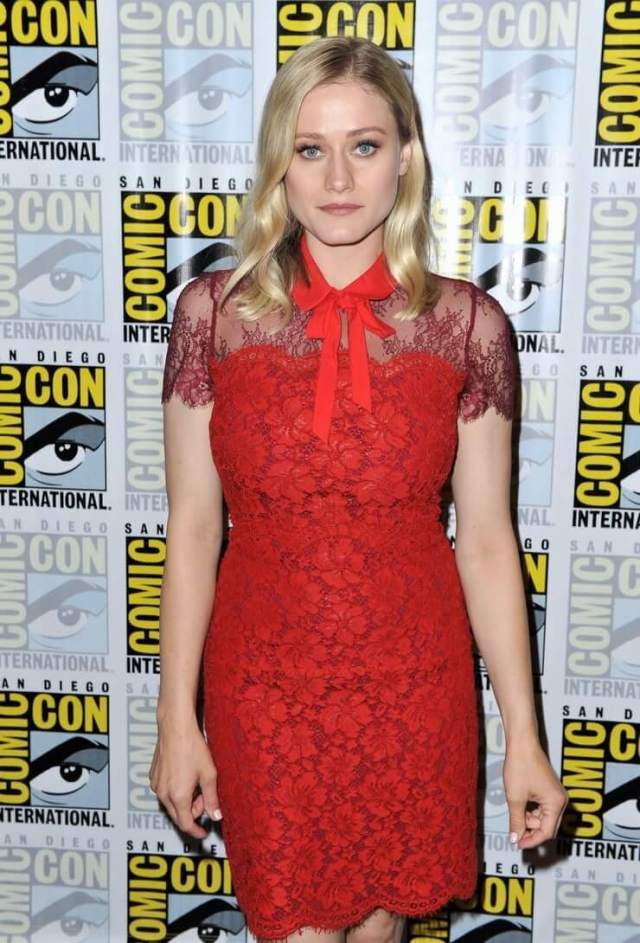 Olivia Taylor Dudley awesome red dress