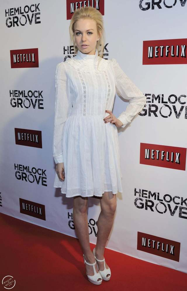Penelope Mitchell hot white dress