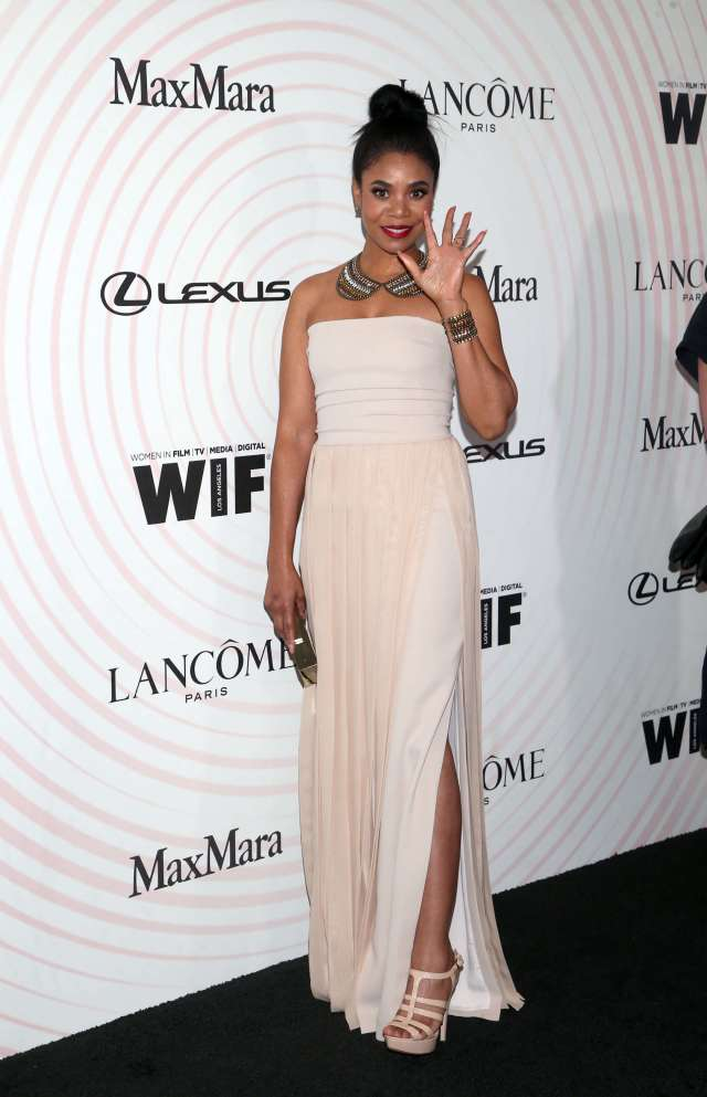 Regina Hall long white dress