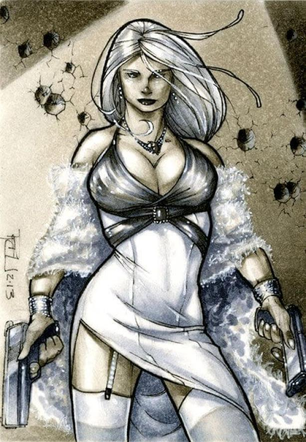 Silver Sable cleavage pics