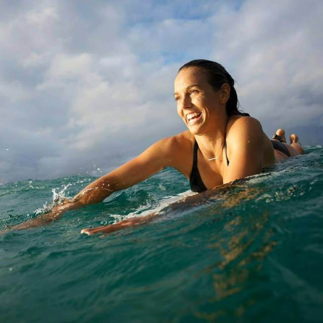 sally fitzgibbons during the swimming