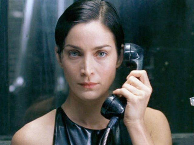 Carrie Anne Moss on Telephone
