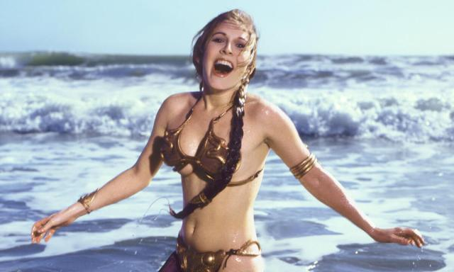 Carrie Fisher SEXY WET PIC