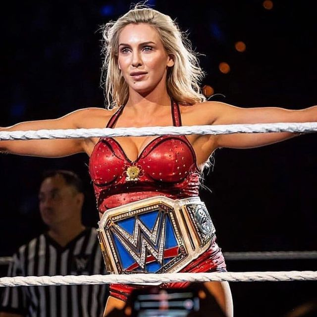 Charlotte Flair hot cleavages
