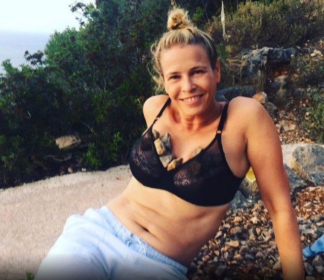 Chelsea Handler Hot in Black Bikini