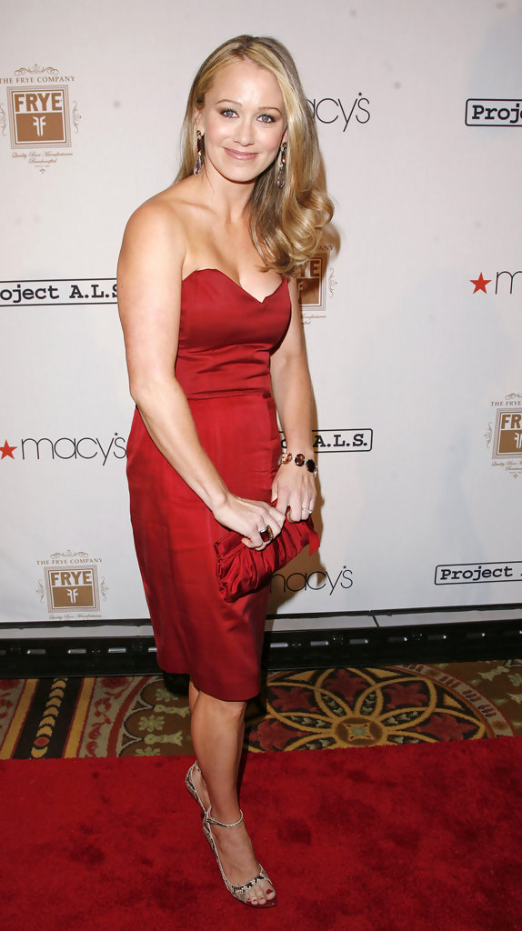 Christine Taylor Hot in Red Short Dress