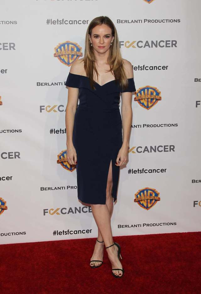 Danielle Panabaker awesome black dress