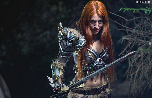 Female barbarian awesome picture