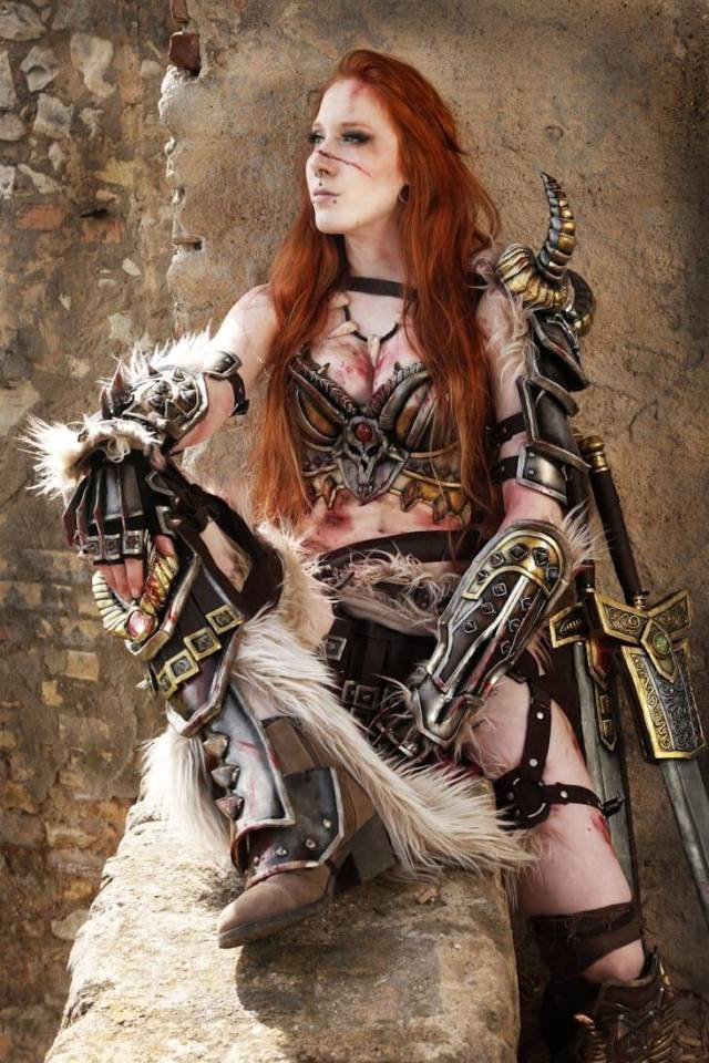 Female barbarian sexy cleavages