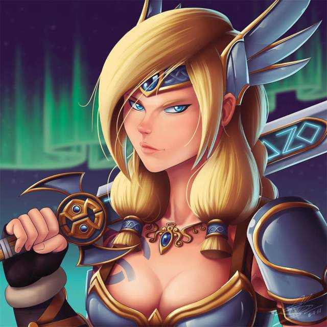Freya Smite awesome cleavage