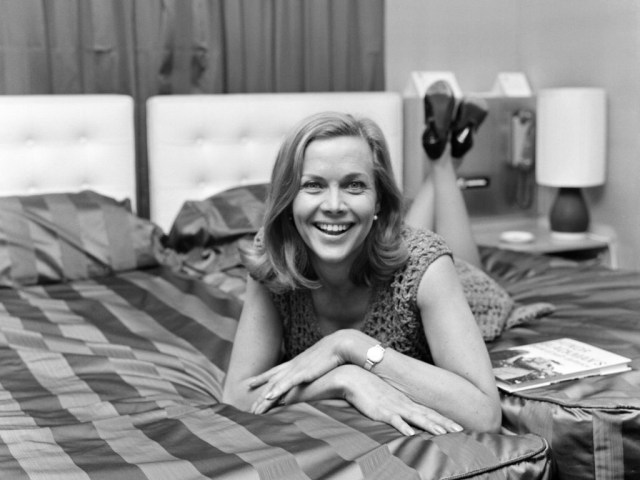 Honor Blackman on Bed