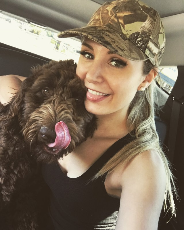 Lauren Southern with Dog