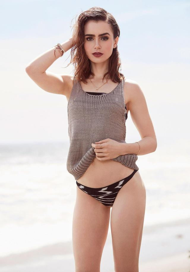 Lily Collins sexy