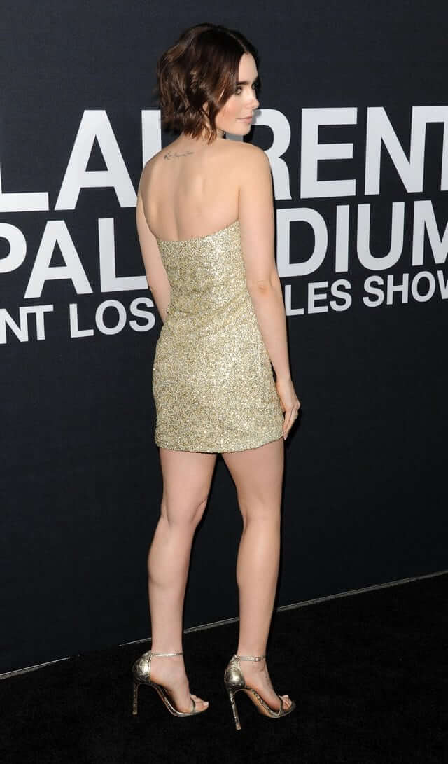 Lily Collins sexy ass