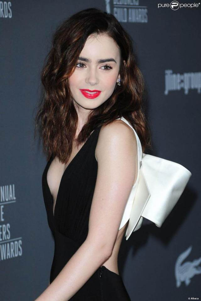 Lily Collins sexy side look